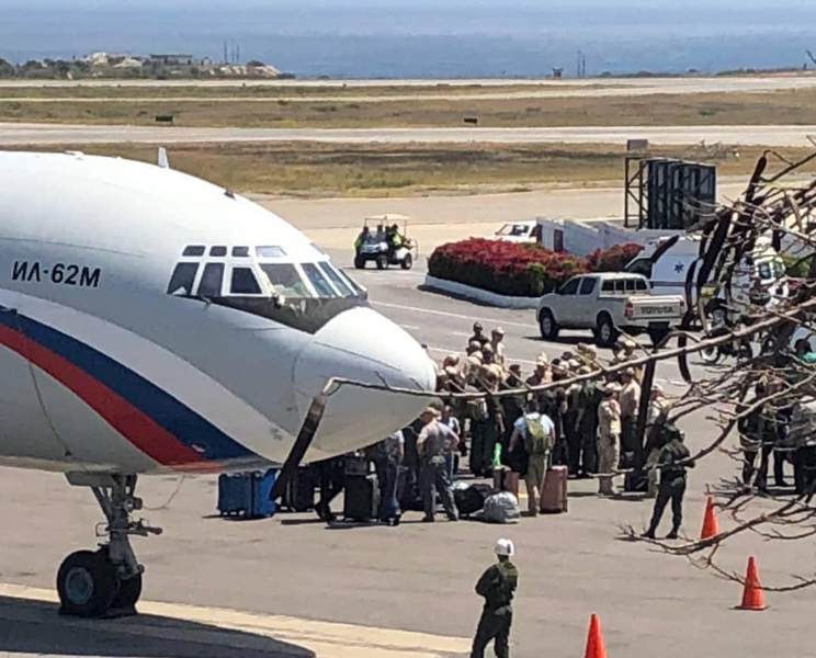 venezuela russian soldiers landing in caracas on 24 march 2019