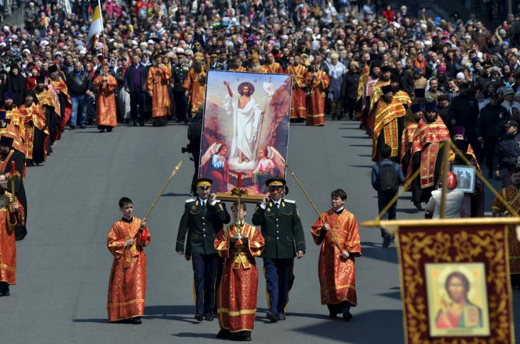 russian orthodox easter  in Vladivostok